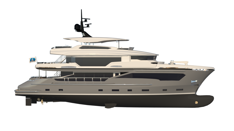 SOLD ! – AvA Yachts 110′ 34m Kando Hull # 2