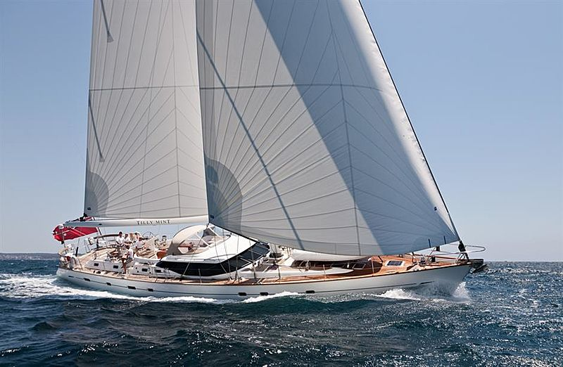 Oyster 82 Sailing Yacht TillyMint for Sale with Yacht & Villa